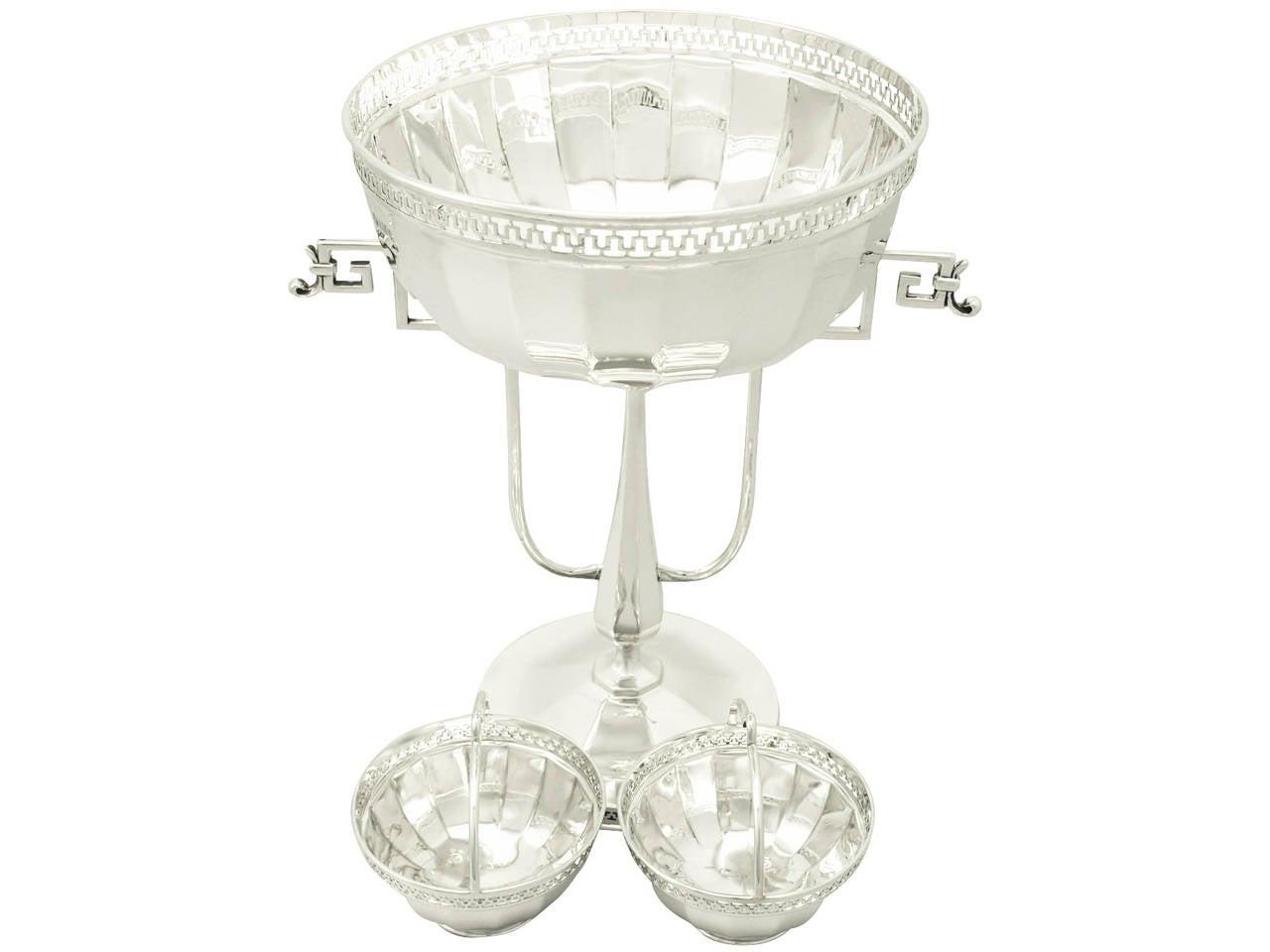 Sterling silver centerpiece antique george v for sale at for Silver centerpieces for dining table