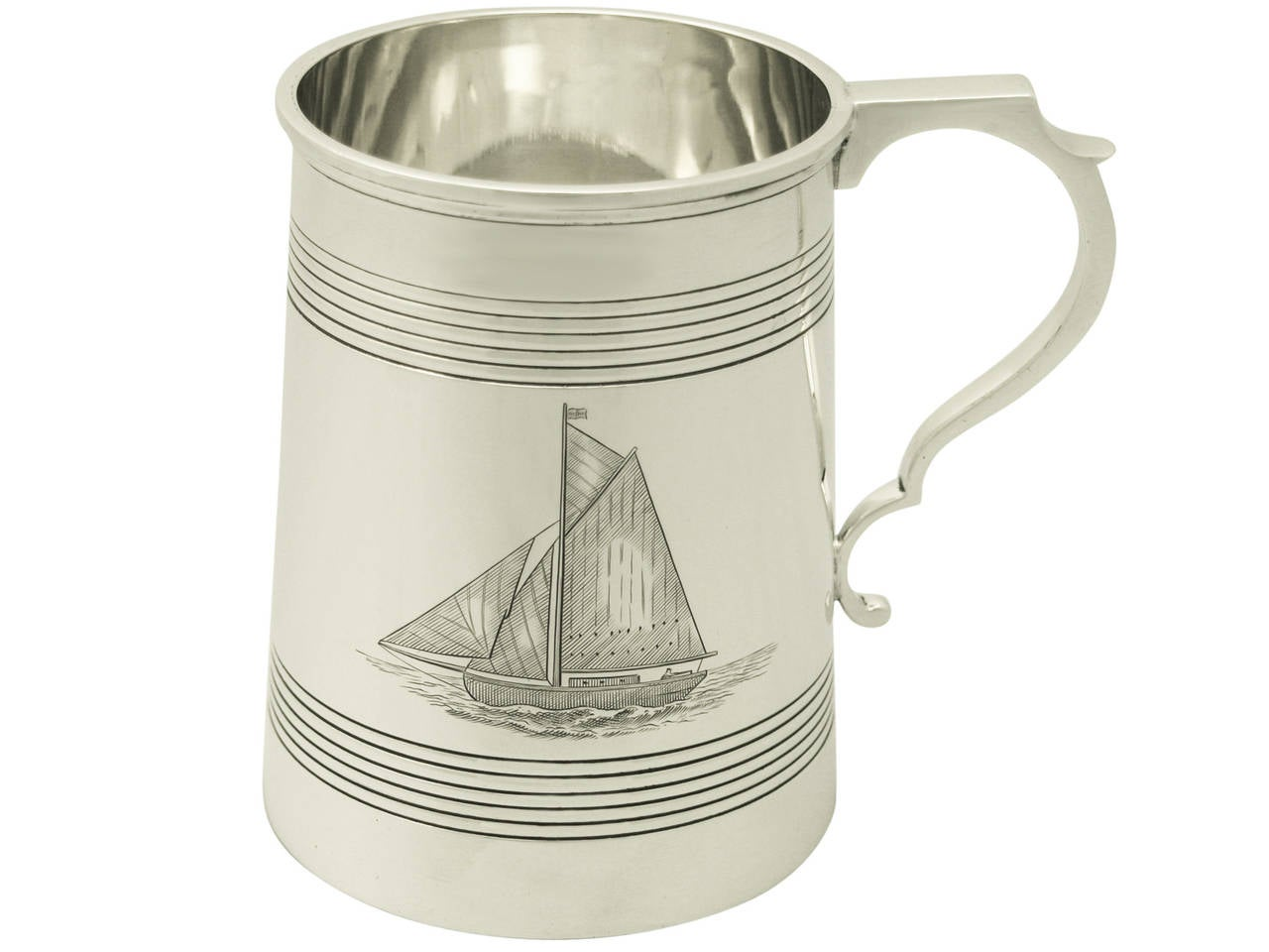 Sterling Silver Pint Mug Antique George V For Sale At 1stdibs