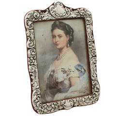 Sterling Silver Photograph Frame, Antique Victorian