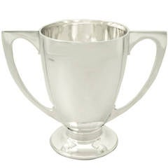 Sterling Silver Presentation Cup, Art Deco Style, Antique George V