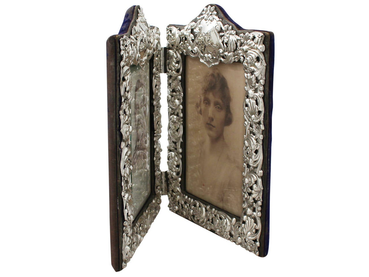 Sterling Silver Double Photograph Frame Antique Victorian At 1stdibs