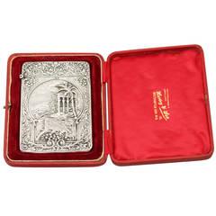 Sterling Silver Card Case - Antique Edwardian