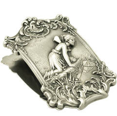 Sterling Silver Letter Clip, Antique Victorian