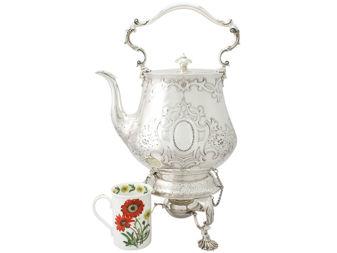 1850s Antique Victorian Sterling Silver Spirit Kettle By John Samuel Hunt For Sale At 1stdibs