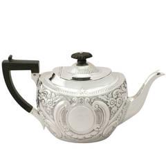 1900s Antique Edwardian Sterling Silver Teapot