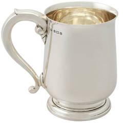 Antique George V Sterling Silver Pint Mug