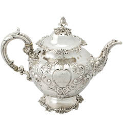 Antique Victorian Sterling Silver Teapot by Edward and John Barnard