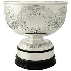Sterling Silver Presentation Bowl - Antique Edwardian