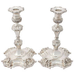 Irish Sterling Silver Candlesticks