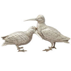Pair of Sterling Silver Snipes - Contemporary