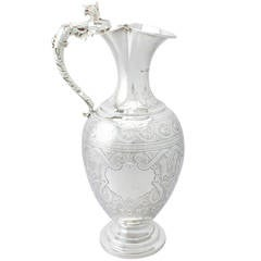 Antique Victorian Sterling Silver Wine Ewer