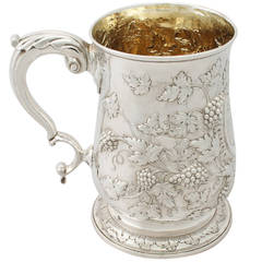 Antique Georgian Sterling Silver Quart Mug