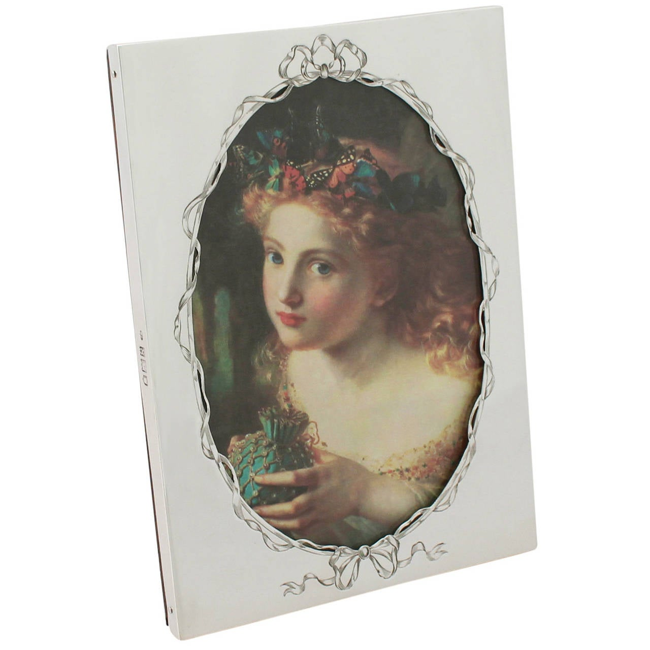 Sterling Silver Photograph Frame, Antique Victorian For Sale