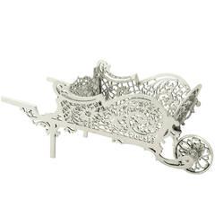Sterling Silver 'Wheelbarrow' Bon Bon Dish - Vintage Elizabeth II