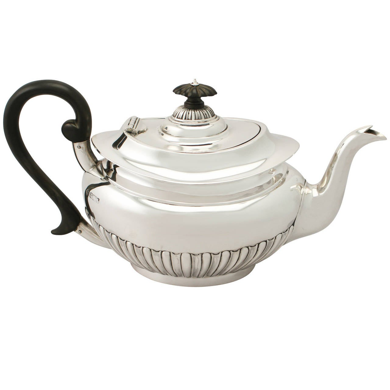 Sterling Silver Teapot Antique Edwardian At 1stdibs