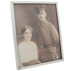 Sterling Silver Photograph Frame, Antique George VI