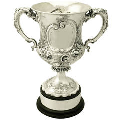 Sterling Silver Presentation Cup, Antique Victorian