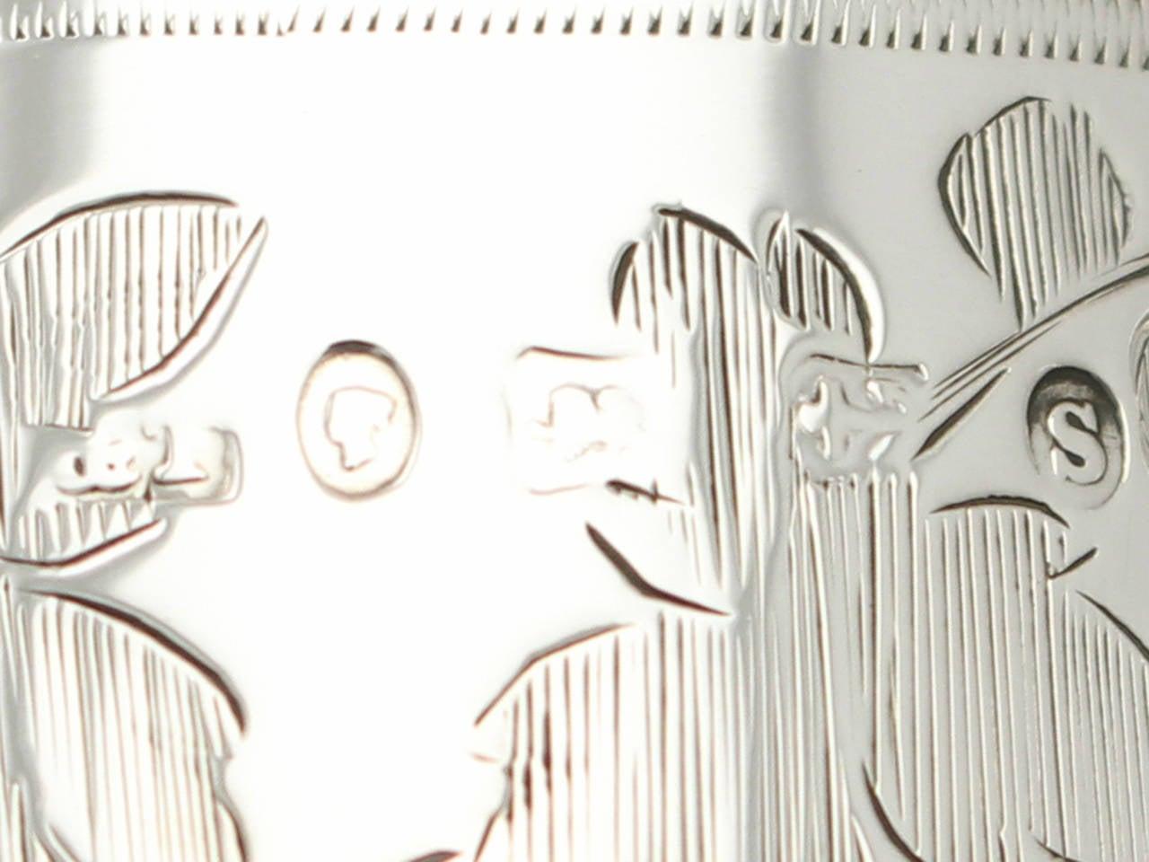 1867 Antique Sterling Silver Christening Mug For Sale 1
