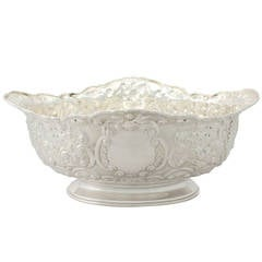 Sterling Silver Presentation Bowl - Antique Victorian