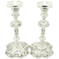 Antique George II Sterling Silver Candlesticks