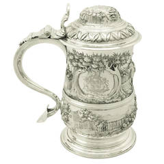 Antique George III Sterling Silver Quart Tankard