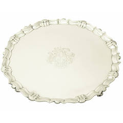 Sterling Silver Salver by John Tuite, Antique George II