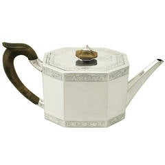 Antique Georgian Sterling Silver Teapot