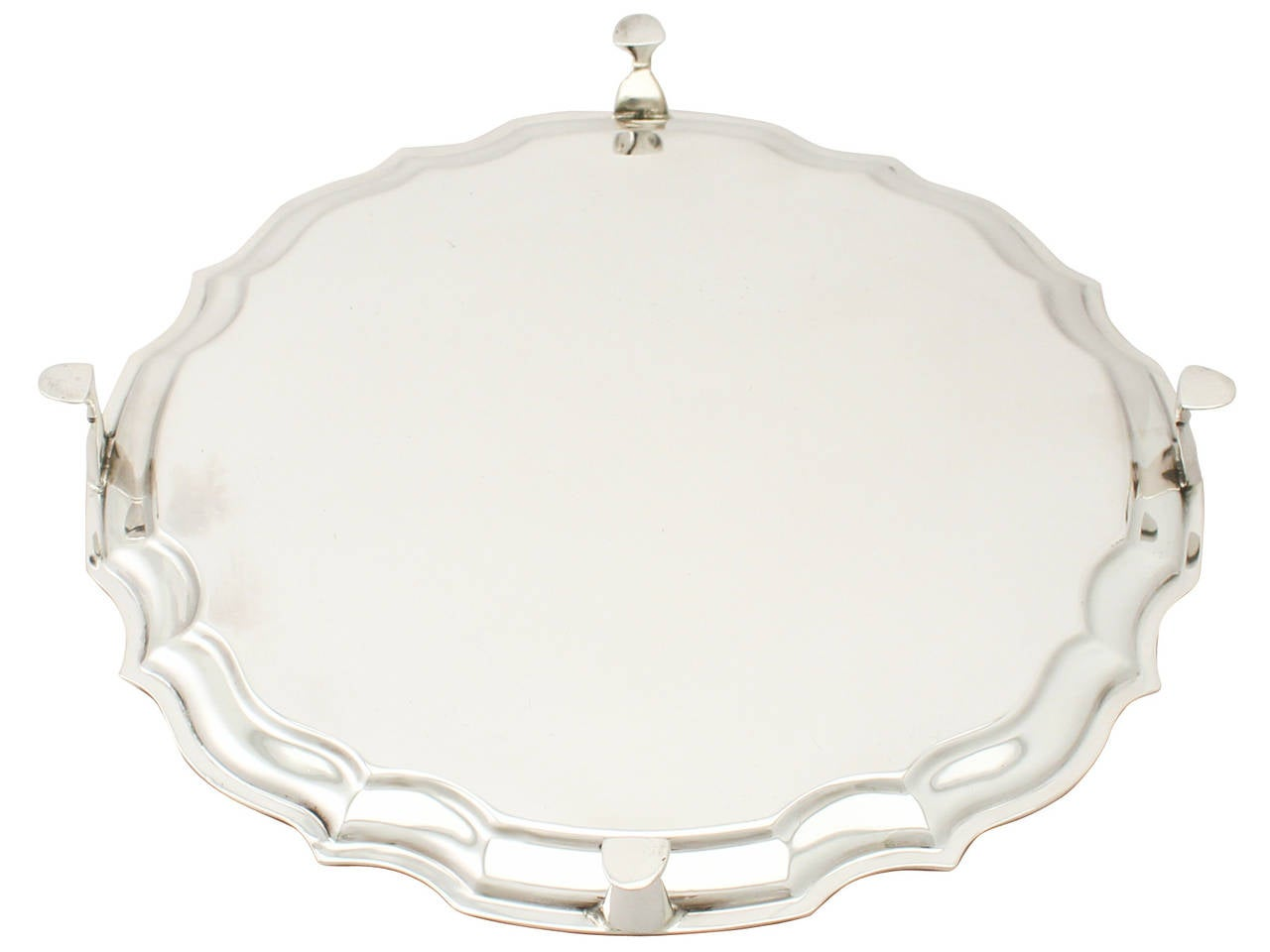 Vintage 1966 Sterling Silver Salver by Francis Howard For Sale 3