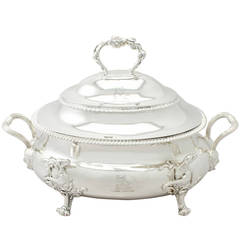 Sterling Silver Soup Tureen/Centerpiece - Antique George III