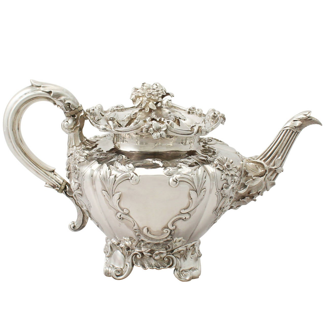 Sterling Silver Teapot Antique Victorian At 1stdibs