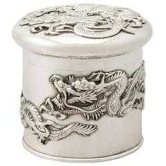 Antique Japanese Silver Box, circa 1890