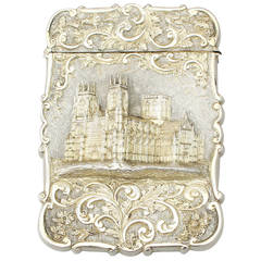 Sterling Silver Card Case, Antique Victorian