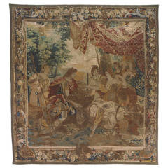 Antique 17th Century Brussels Mythological Boar's Head Tapestry by Jan Leyniers