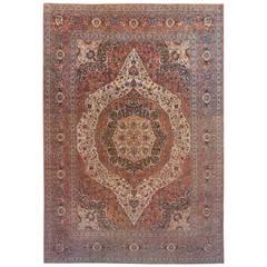 Antique Persian Tabriz Hadji Jalili Oriental Carpet in Large Size, circa 1890