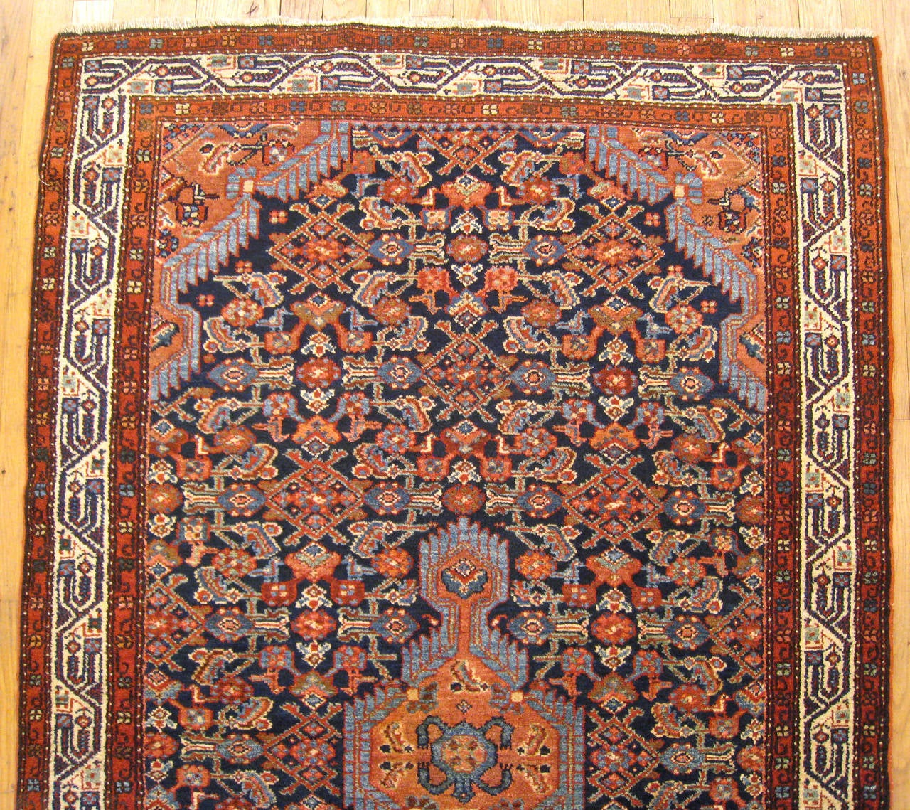 Antique Persian Malayer Oriental Rug With Herati Pattern 3