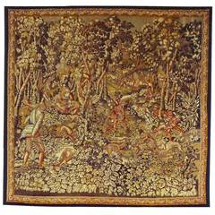 Antique 19th Century French Fox Hunt Tapestry {from Ralph Lauren window display}
