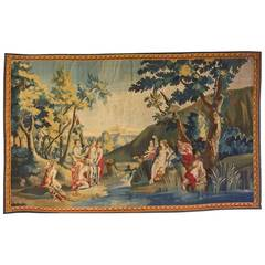 18th Century Franco-Flemish Mythological Tapestry, with Diana and Callisto