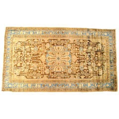 Vintage Persian Hamadan Oriental Rug in Small Gallery Size with Soft Earth Tones