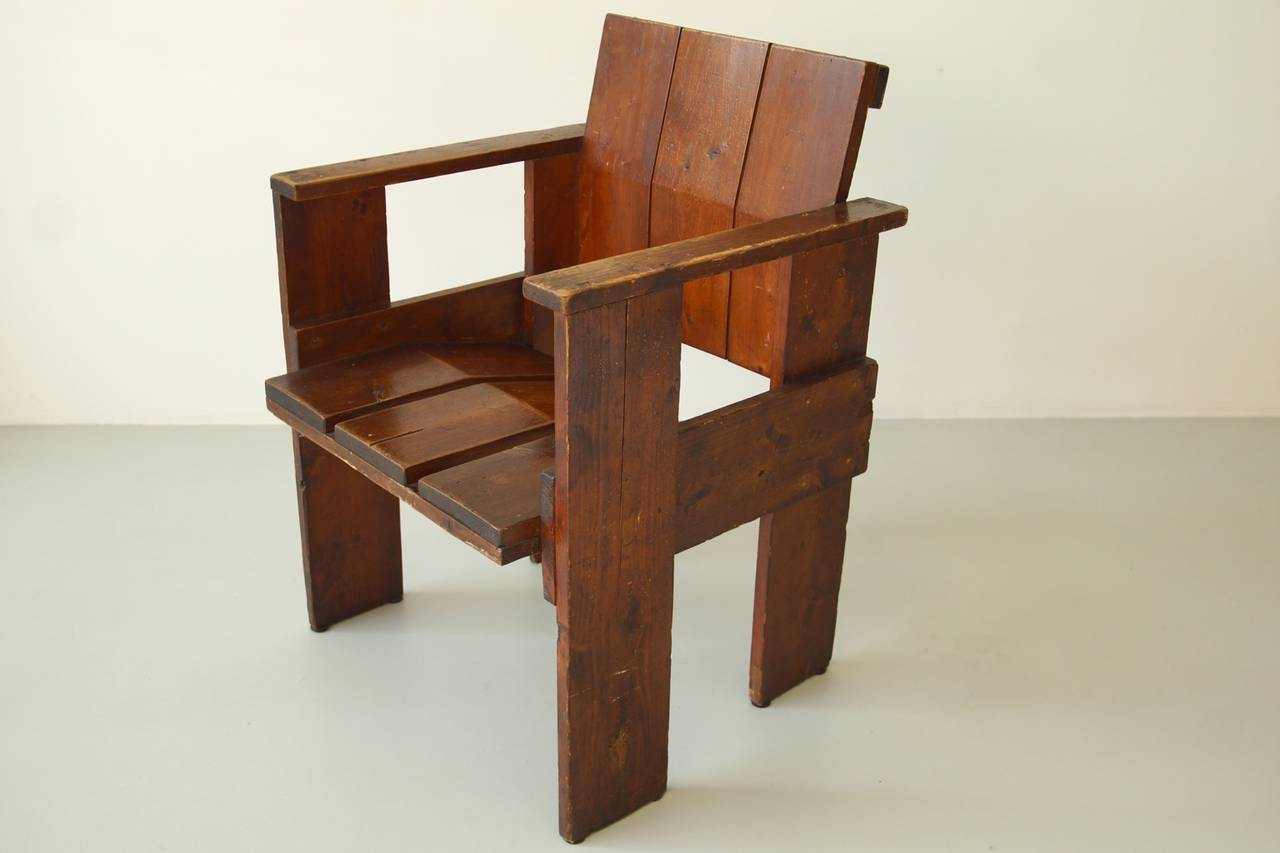 Albatros Crate Chair By Gerrit Rietveld For Sale At 1stdibs