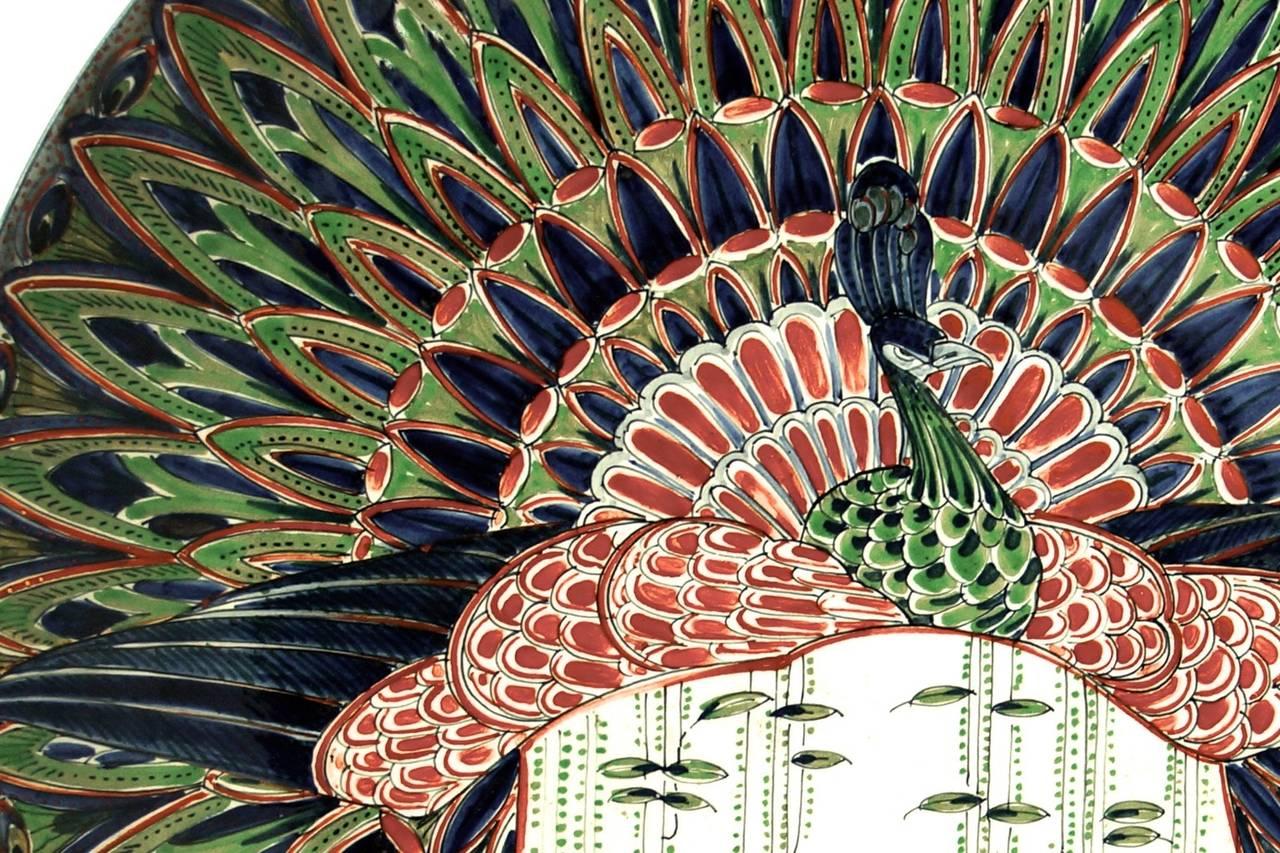 Ceramic Wall Art Art Nouveau Ceramic Wall Plate