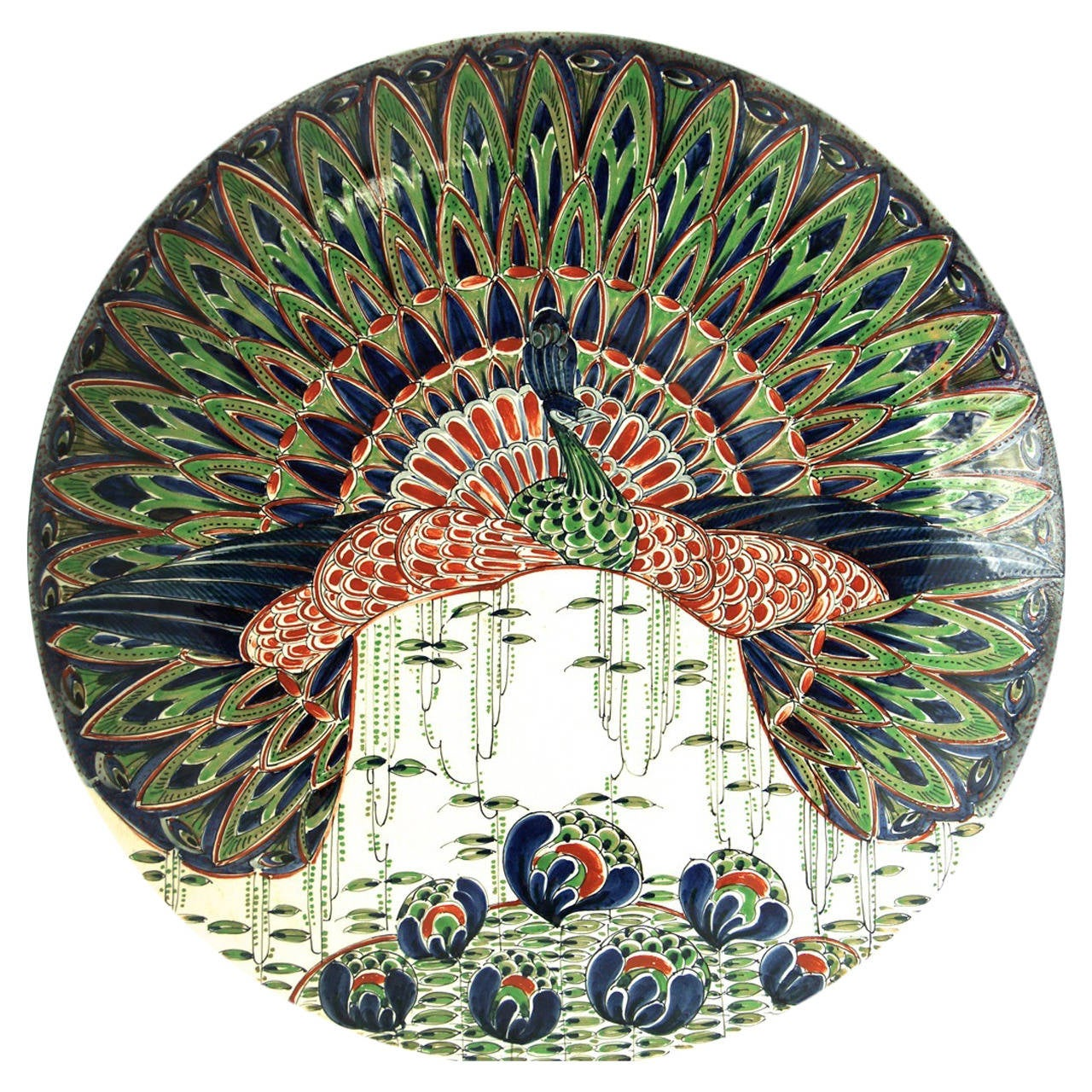 sc 1 st  1stDibs & Art Nouveau Ceramic Wall Plate For Sale at 1stdibs