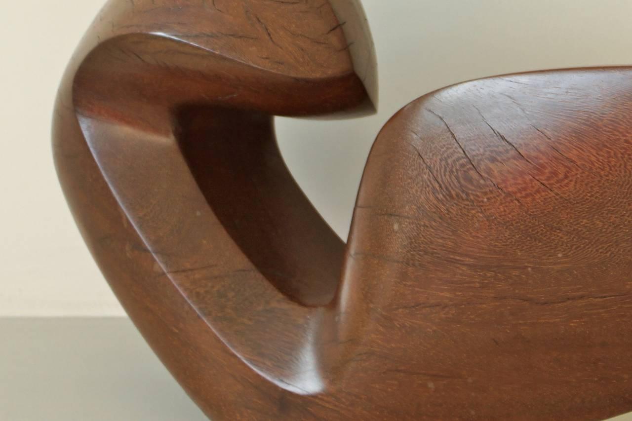 Beautiful Abstract 1950s Teak Sculpture by Dolf Breetvelt 5