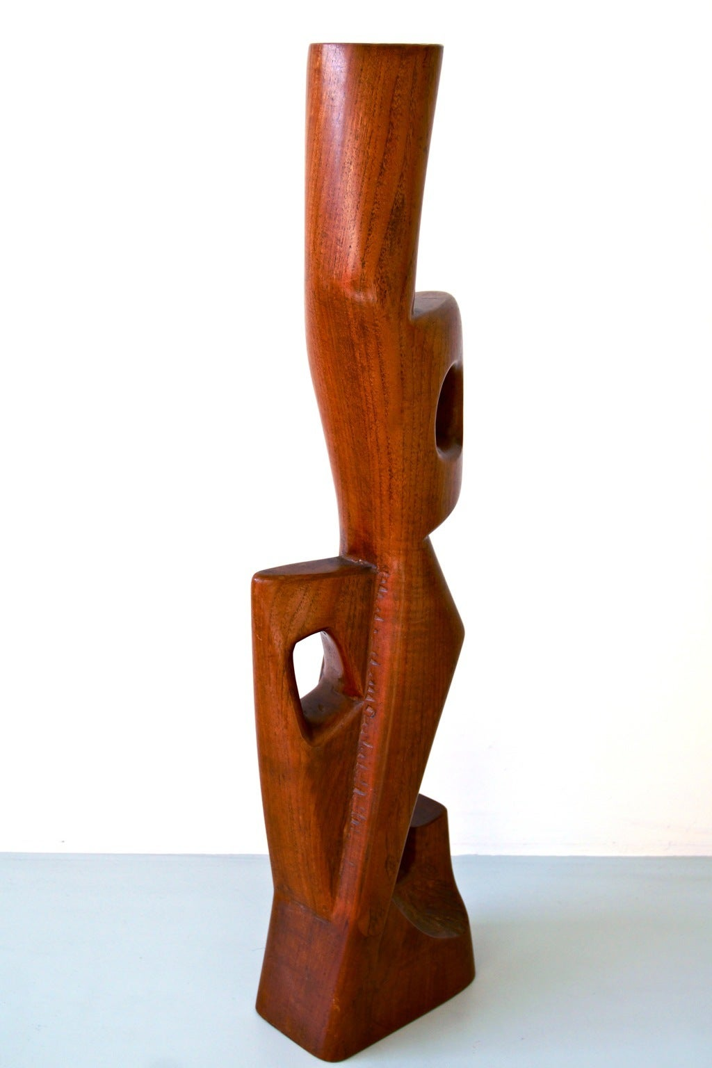 Abstract 1950s Teak Sculpture by Dolf Breetvelt 4