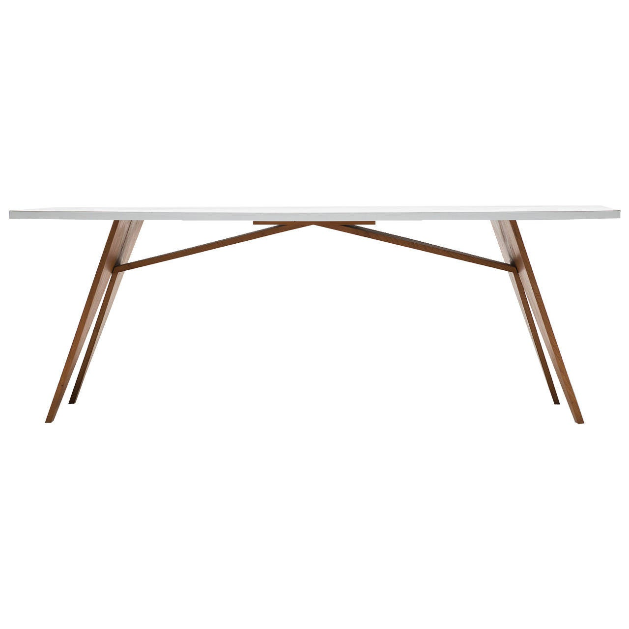 Zigzag Table, Top Covered With White Formica By Gerrit Rietveld 1