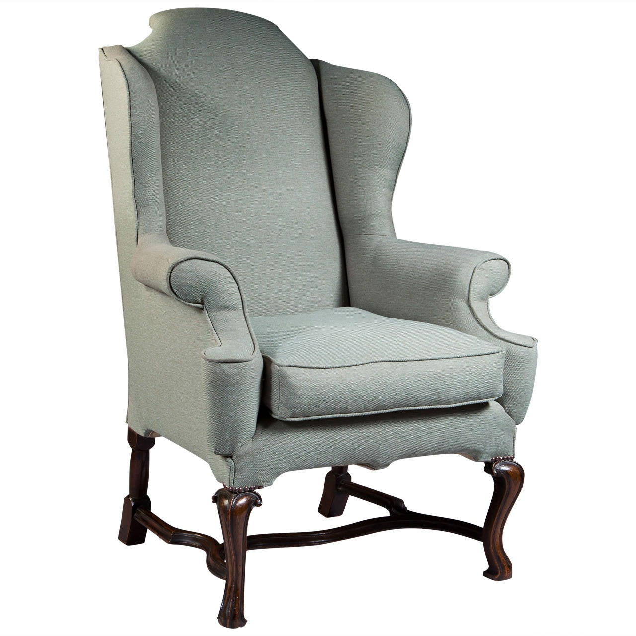 George I Style Large-Scale Wing Chair