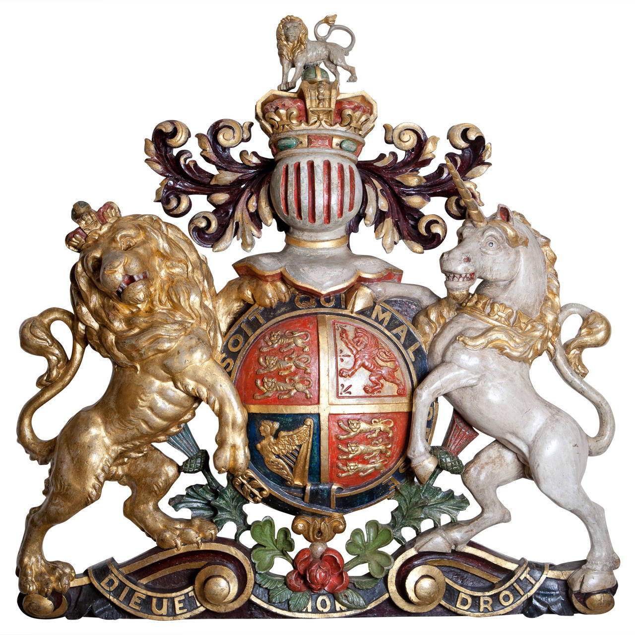 Large Scale British Royal Coat Of Arms At 1stdibs