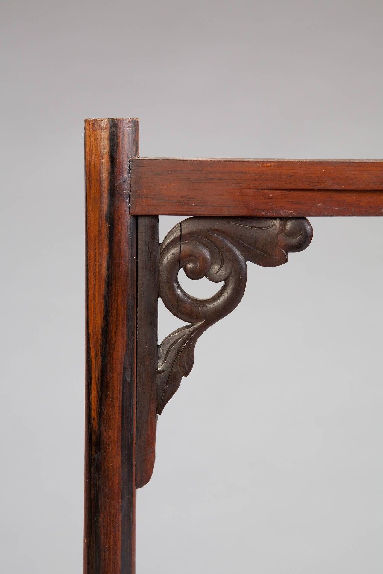 Ebony Calamander Wood Folding Campaign Table For Sale