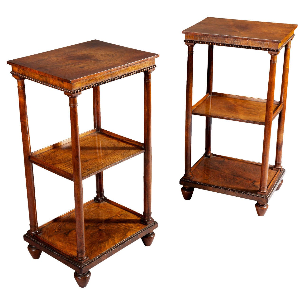 pair of william iv etageres end tables at 1stdibs. Black Bedroom Furniture Sets. Home Design Ideas