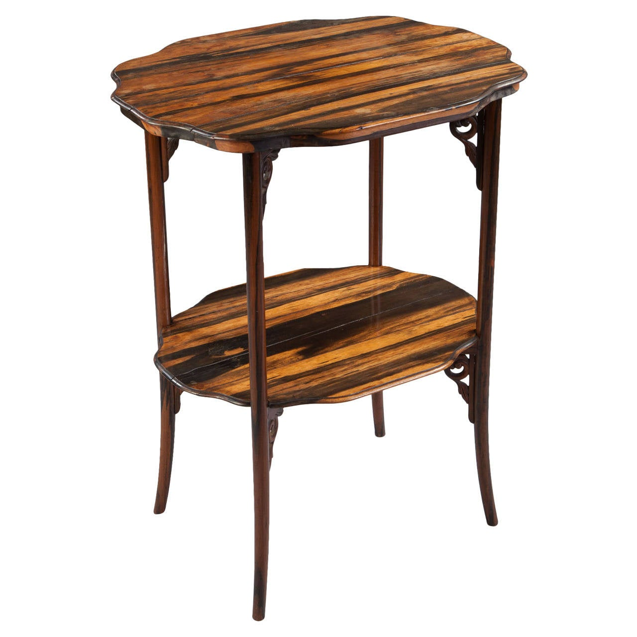 Calamander Wood Folding Campaign Table For Sale