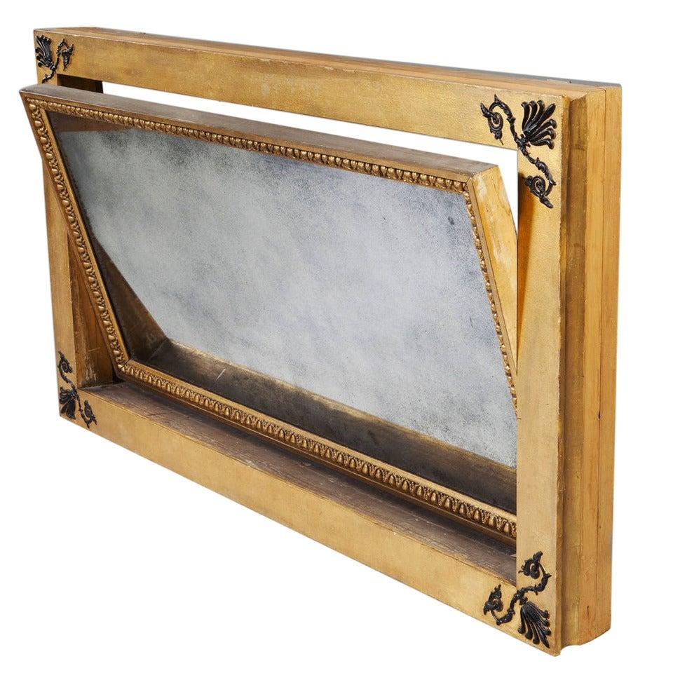 48 inch English Regency Gold Overmantel Mirror